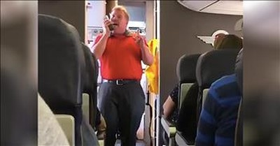 Airline Worker Sings 'You Raise Me Up' For Grieving Mother On Flight