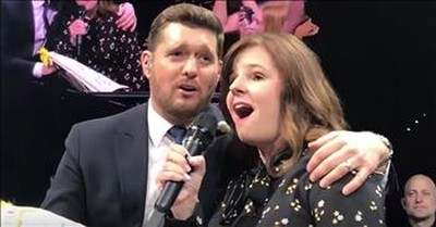 Michael Buble Sings 'A Whole New World' With 6th Grade Teacher
