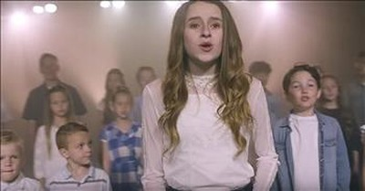 Choir Of Over 50 Children Sing 'What A Beautiful Name'