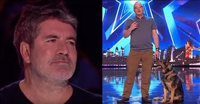 Emotional Police Dog Audition Leaves Simon Cowell In Tears