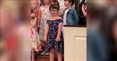 Little Girl Out Dances Everyone During Class Performance