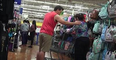 Prank Video Turns Into Prayer Session In WalMart