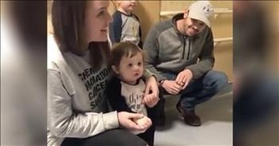 Hospital Sings To Little Girl After Last Chemo Treatment