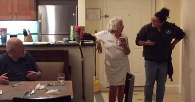 Grandma Gets Surprise Visit From Her Granddaughter