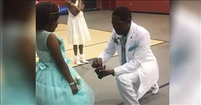 Step-Dad 'Proposes' To Daughter At Their First Dance Together