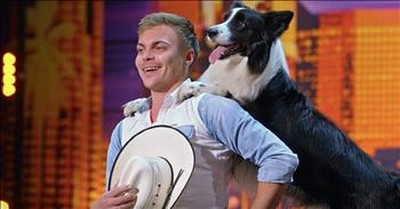 Talented Dog And Trainer Perform 'Footloose' Routine On AGT