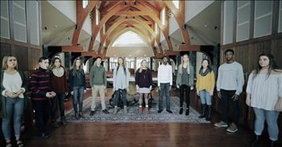 12 Choir Students Sing A Cappella 'How Great Thou Art'