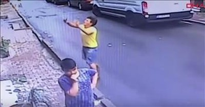 Teenager Miraculously Catches Toddler Falling From A Building