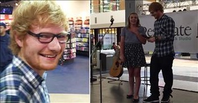 Ed Sheeran Sings Karaoke With Unsuspecting Teen At The Mall