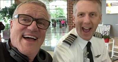 Mark Lowry And Airline Pilot Sing 'Just A Closer Walk With Thee' In Airport