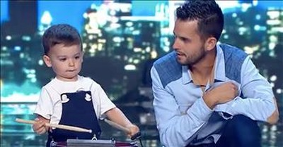 2-Year-Old Child Prodigy Drummer Stuns On Spain's Got Talent