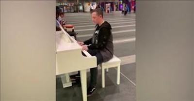 Teen Plays 'Bohemian Rhapsody' On Piano In Train Station