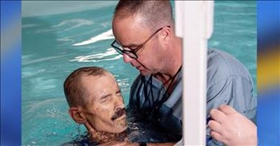 Dying Man Granted Final Wish To Be Baptized After Lifetime Of Atheism