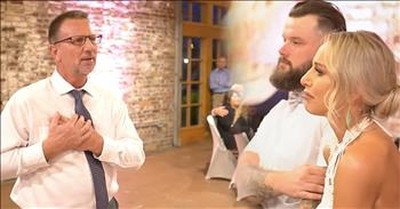 Bride Cries As Dad Signs 'I Loved Her First' For Wedding Surprise