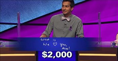 Alex Trebek Tears Up At Touching Final Jeopardy Moment