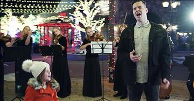 'O Holy NIght' 7-Year-Old Claire Crosby And Dad Duet