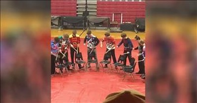 High School Band Drumline Without Playing A Single Drum
