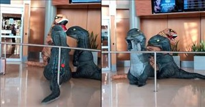 Hilarious Dinosaur Family Reunion At The Airport