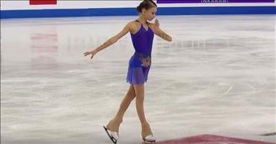 Figure Skater Anna Shcherbakova Pulls Off Costume Change During Routine