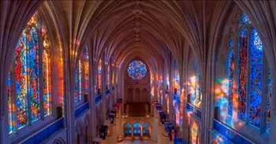 Mesmerizing Time Lapse of a Stain Glass Window