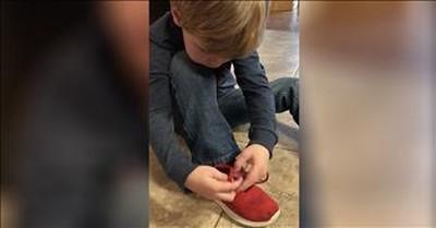 5-Year-Old's Genius Shoe Tying Trick Goes Viral