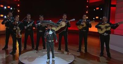 4-Year-Old Mariachi Singer Delights The Crowd On Little Big Shots