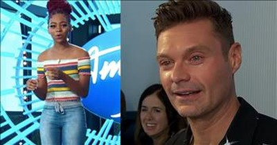 Ryan Seacrest Tears Up After Courtney Timmons Walks In Off The Streets For Audition