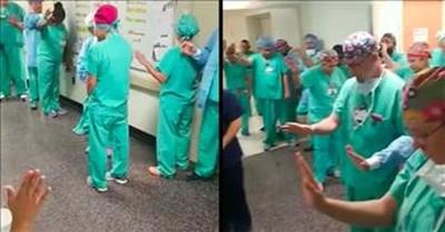 Doctors And Nurses Pray Together Before Shift Begins