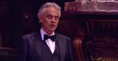 'Ave Maria' Andrea Bocelli Live Performance From Music For Hope Concert
