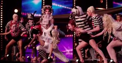 Children's Dance Group Performs Alice And Wonderland Themed Routine