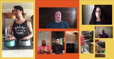 A Cappella 'Don't Worry Be Happy' By Church Members In Their Kitchens