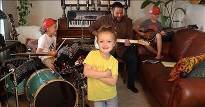 Adorable Family Band Performs Classic 'Twist And Shout' During Quarantine