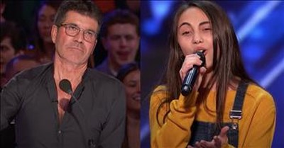 12-Year-Old Ashley Marina Sings 3 Times For Simon Then Earns A Standing Ovation