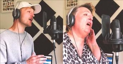Mother And Son Perform Inspiring 'Rise Up' Duet