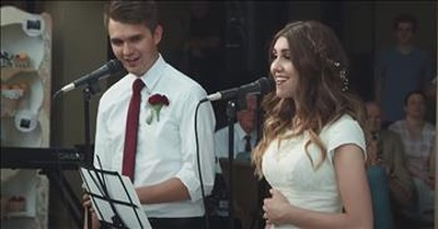 Brother And Sister Sing 'The Prayer' Duet At Her Wedding