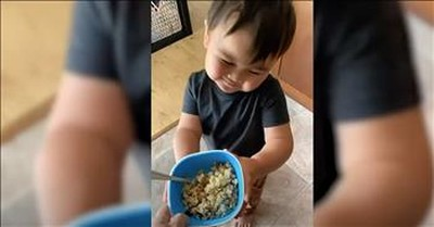 Super Polite Toddler Loves His Mama's Cooking