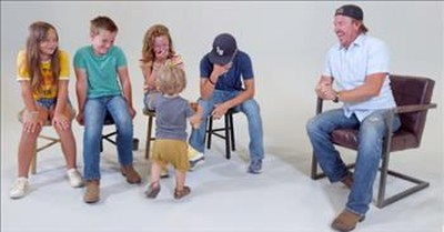 Chip Gaines Reads Dad Jokes To His Kids