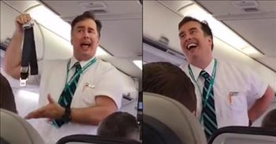 WestJet Flight Attendant Goes Viral For Hilarious Demonstration Speech
