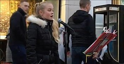 11-Year-Old Sings 'Can't Help Falling In Love' On Street Corner