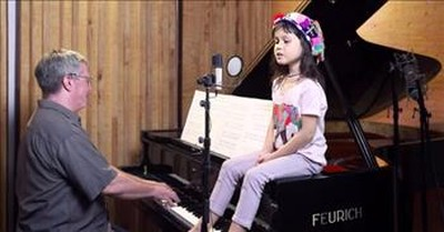 'Time In a Bottle' 5-Year-Old Emilie Duets With Dad Playing Piano