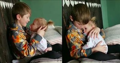 Big Brother Sweetly Sings 'Count On Me' To Sister