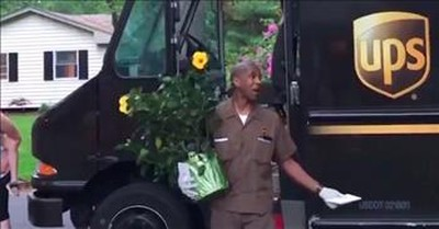 Neighbors Line Up To Thank UPS Driver