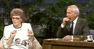 Johnny Carson Pranks Guest By Pretending To Eat Her Prize-Winning Chip
