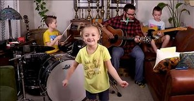 Dad And Kids Performs 'All You Need Is Love'