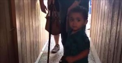 Sweet Toddler Gives Grandma A Helping Hand Down The Hallway