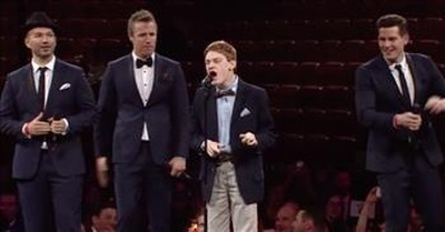 'Lean On Me' Blind Singer With Autism Performs With The Tenors