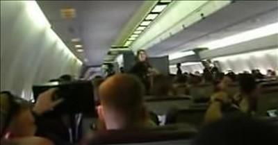 Marines Serenade Flight Attendant With 'Sweet Caroline' On Plane Ride Home