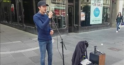 Young Street Busker Draws A Crowd With 'Hallelujah' Cover