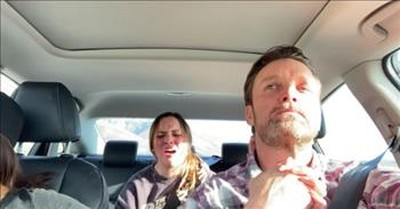 Young Girl Brings Dad To Tears When He Hears Her Sing In The Car