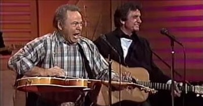 'Folsom Prison Blues' Johnny Cash And Roy Clark Performance